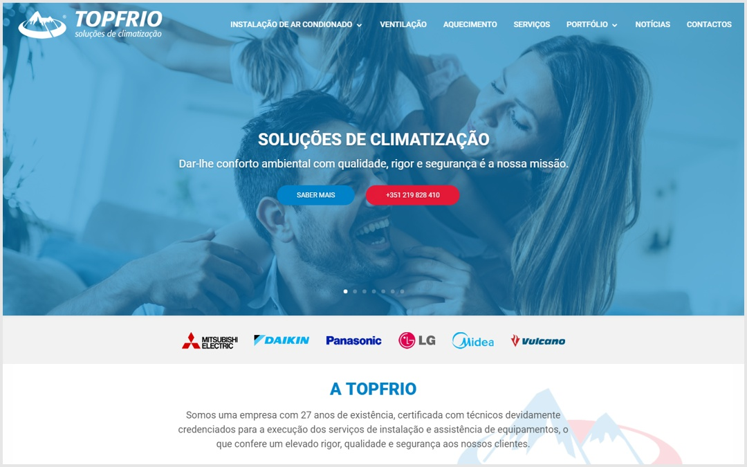 Lançamento do novo site online